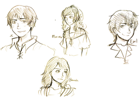 doodles of OCs imma use by sigalawin