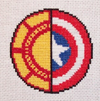 Arc Reactor x Cap's Shield Cross Stitch by chujo-hime