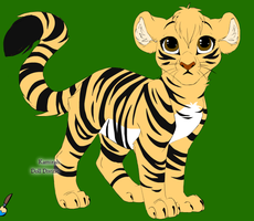 Tiger Cub by Lionfeather3