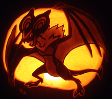 Noivern Pumpkin by johwee