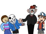 Grunkle Stan...meet Dunkle Sans! by SaintHeartwing