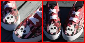 Crabby Skull Shoes Front by mystic-fae
