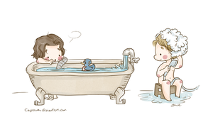 Stucky - Bath Time by caycowa