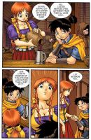 Fantasy comic pg1 color by Dogsupreme