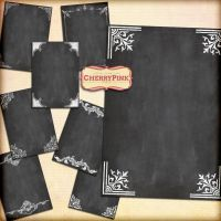 CHALKBOARD digital collage sheet by miabumbag