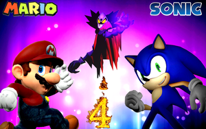 Mario and Sonic 4 by SuperSmashBrosGmod
