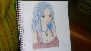 Blue haired Girl by PrinceLink