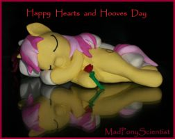 Hearts and Hooves Day custom Sculpture by MadPonyScientist