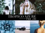 Tropico Azure - (Free) Photoshop Action by Kipp-creations