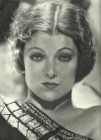 Myrna Loy Pencil Drawing by johndibiase