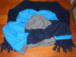 More fleece hats and a scarf by Bisected8