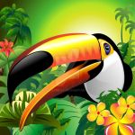 Toucan Close Up on the Jungle by Bluedarkat