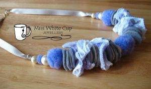necklace: blueberry and cream by Margotka