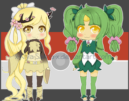 [CLOSED-- OFFER]Pokemon Gijinka Adopts 01 by Kiya-Rose