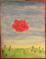 Meditative Rose (Originally by Salvador Dali) by FinalFantasyWarrior
