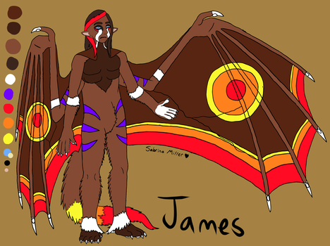 James' Simple Ref Sheet by BloodWolf93