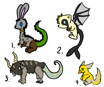 Hybrid Adoptables 1 by SearchingForADream