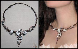 Necklace Snowy garden by JSjewelry