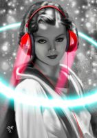 DJ Myrna Loy by eHillustrations