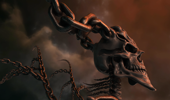 Skeleton Withchains-3 by DoctorDigArt