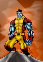 Colossus Xman Standing by MarcBourcier