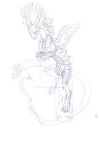 Dragon X WIP by AFrozenHeart