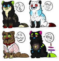 Mystery Adopts CLOSED by InfectedZombieX