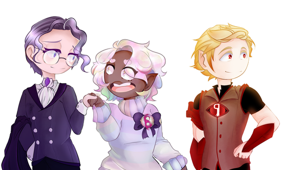 Number Heroes: Seven, Six and Nine by MaliceAndMacarons