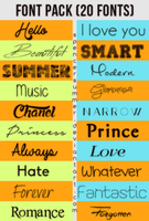 +My Favourite Fonts Pack by spencersummer