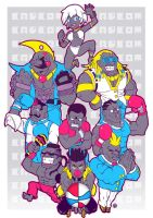Capcom Fighting Tribute - Black Fighters Matter by Rikyo