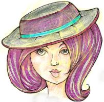 Hat Lady by zenobia