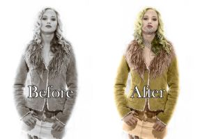 Jennifer Lawrence rare beforeafter by Soph-LW