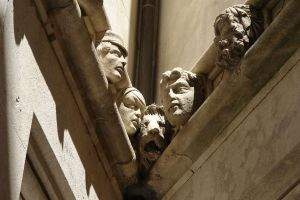 Heads at the Sibenik cathedral by popol-vooch