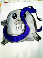 Walrus and snake, After by krizzi-666