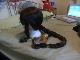 Wig Commission - Aerith by kyos-girl