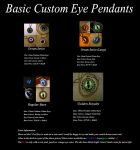 Current Custom Basic Eye Pendants - Necklaces by LadyPirotessa