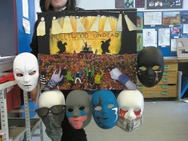 Hollywood Undead Gig and Masks by TheoryOfTheGuy