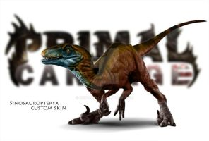 Primal Carnage Raptor Sinosauropteryx Recolor by HopaHo
