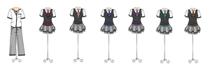 Heart of a Rose: Uniforms by Hero-of-Awesome