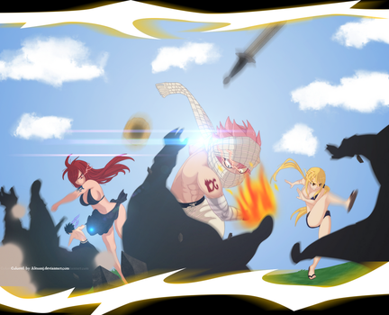 FT 441: Natsu, Lucy, Erza and Gray by AlexanJ
