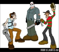 Freddy V Jason V Ash by striffle