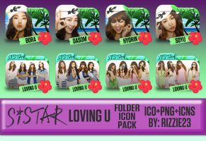 Sistar Loving U Folder Icon Pack by Rizzie23