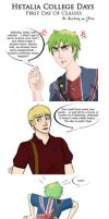 Hetalia College Days - First Day of Classes p.01 by jackzarts
