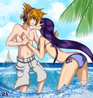 CM Neku and Saeko by FenRox