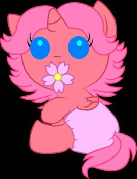 the flower pacifier by DiaperedSwewtieBelle