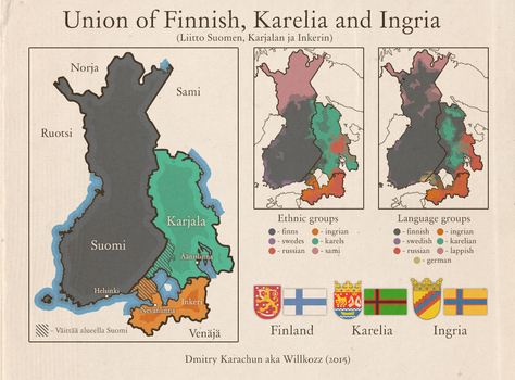 Union of Finnish, Karelia and Ingria by Willkozz