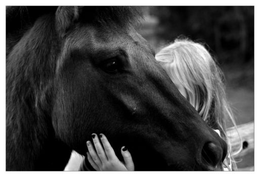 Horse and Girl by Dr-Koesters