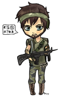 Frank Woods Chibi by QueenJellybeany