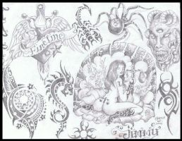 flash for tattoo art by inkwork27