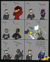 Mass Effect - Squad conversation by Finjix